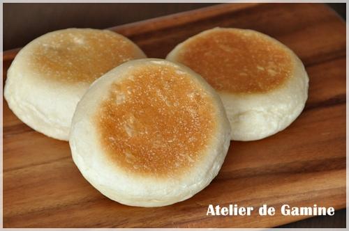 ホシノ天然酵母のベーコンエピの生地で平焼きパン