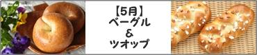 ベーグル(天然酵母)とツオップ(インスタントドライイースト)